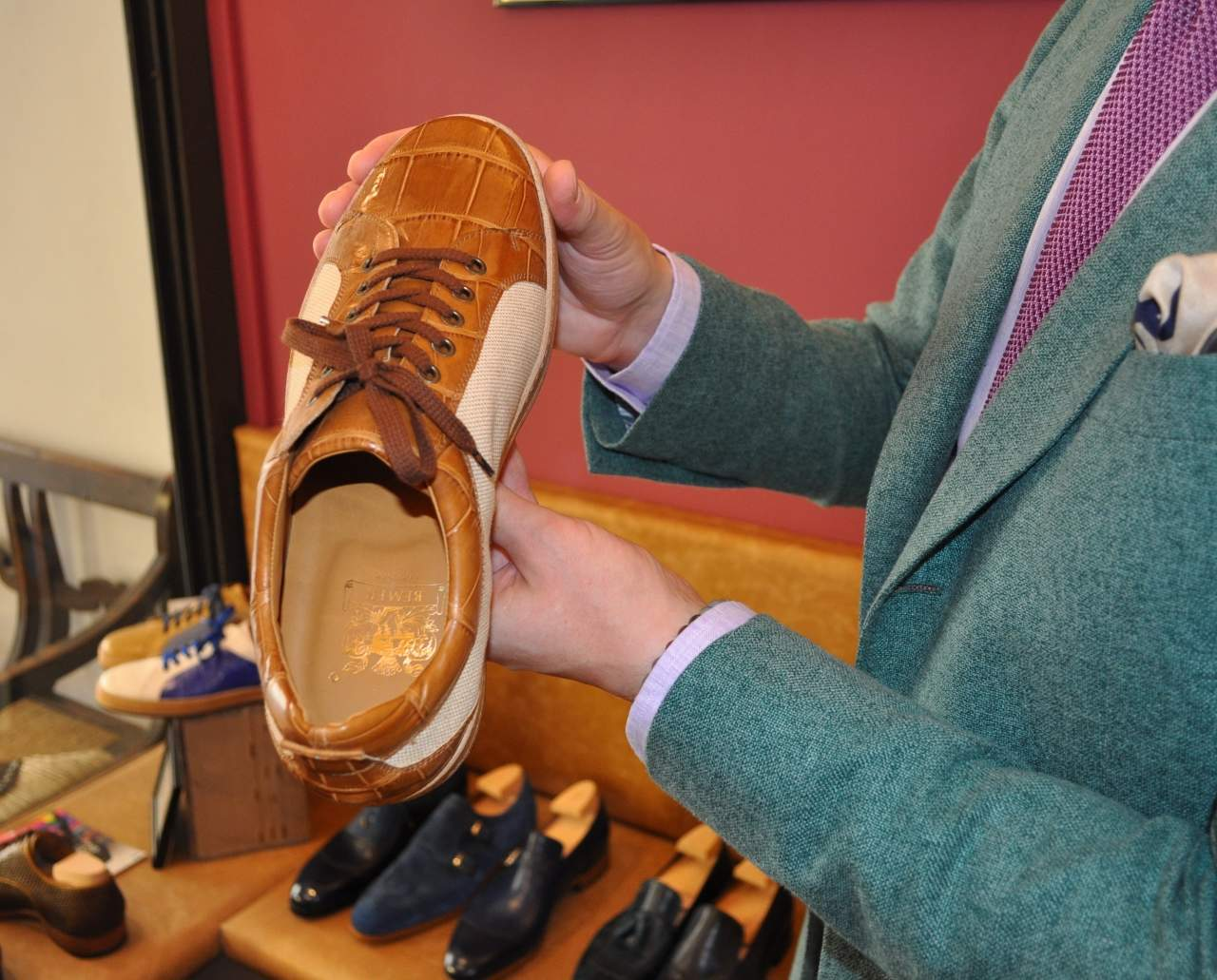 Mario Bemer crocodile sneakers