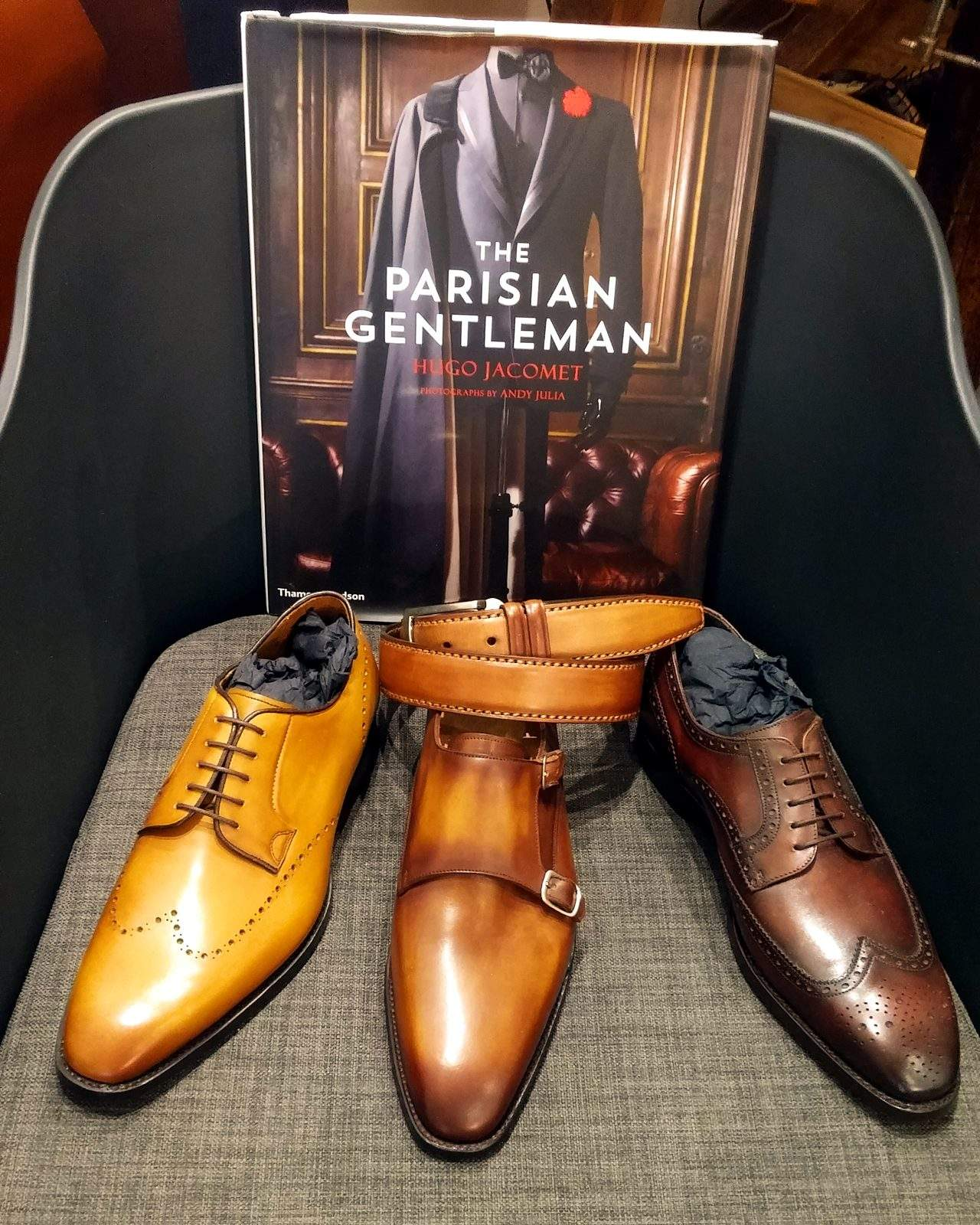 Hugo Jacomet, of The Parisian Gentleman fame, is also a friend of Ramon Cuberta's shoes