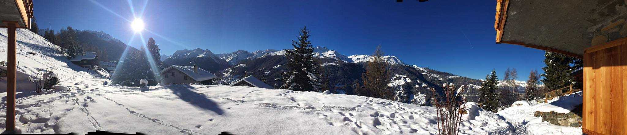 These are the views from Gstaad, where the Muller's finalised their design for the first Brellum watch - the Duobox.