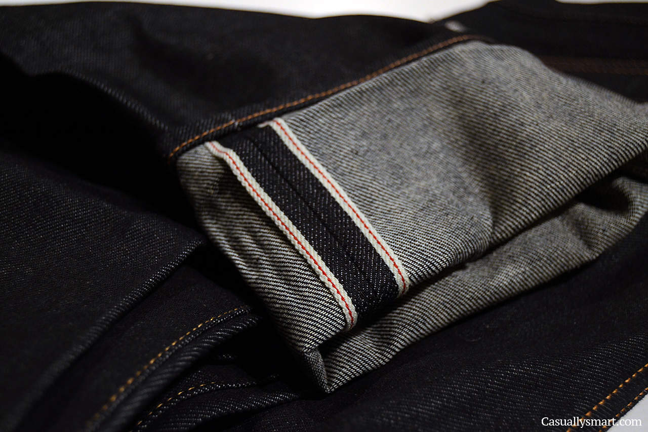 Fabric Notes: We're always on the hunt for black selvage as its not easy to source high quality, black x black selvage and truth be told, the denim mills hate.