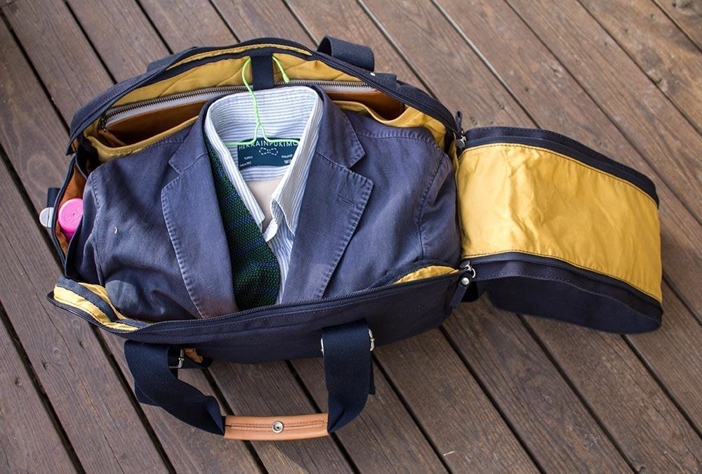 The Weekender will comfortably fit necessities for a couple of days.