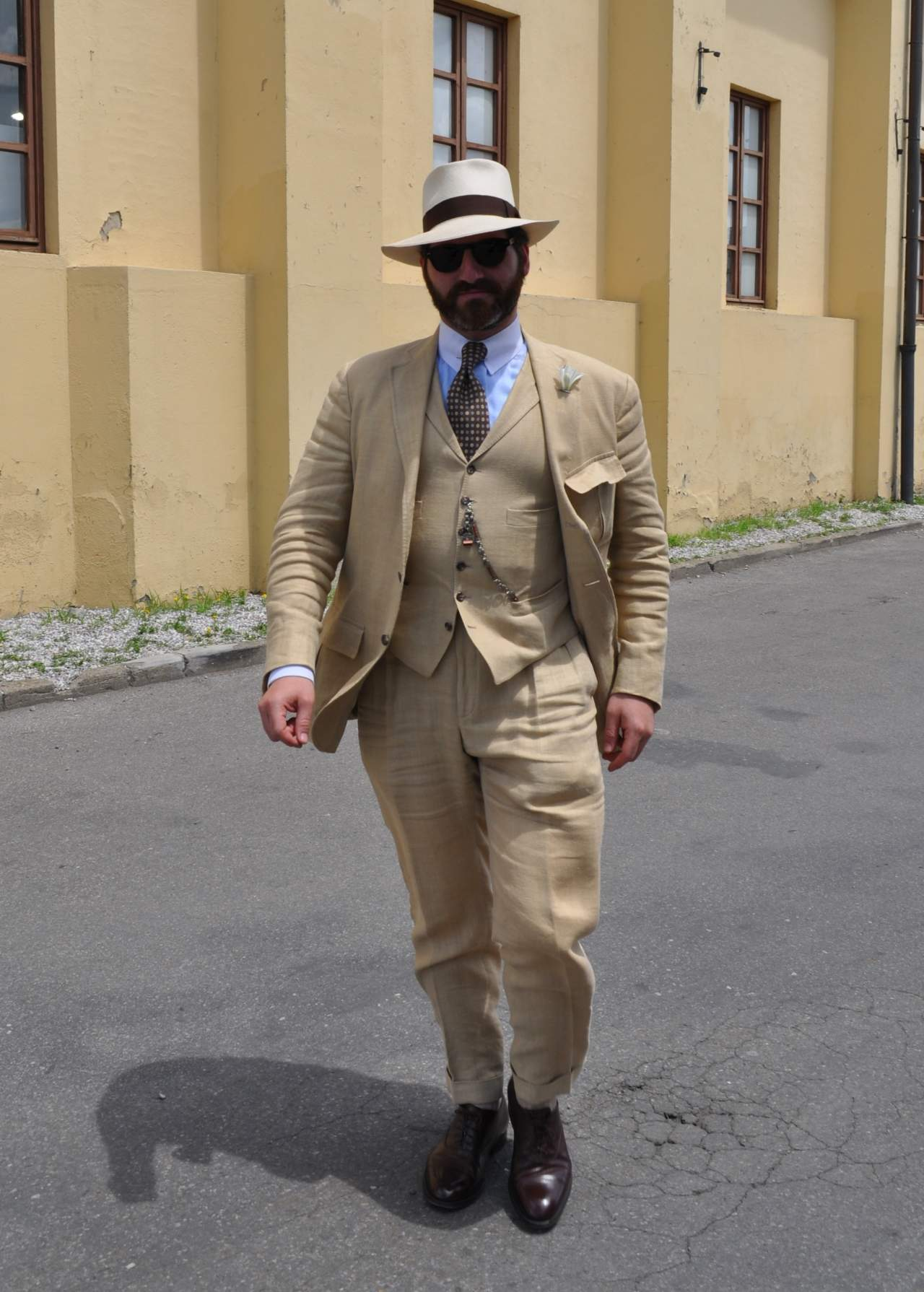 Pitti90 day4 yellow suit