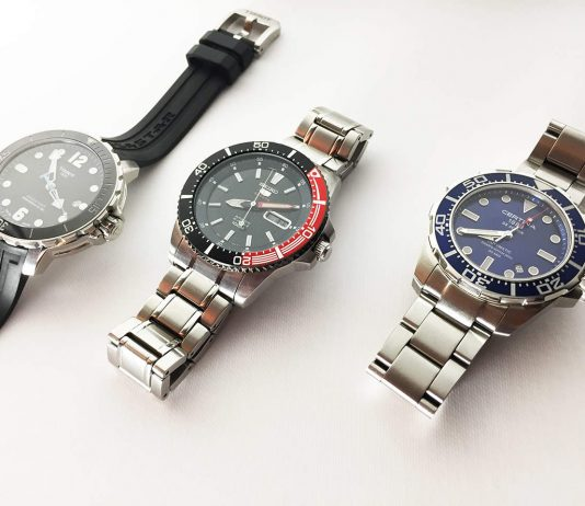 Tissot, Seiko and Certina - Three quality diving watches.