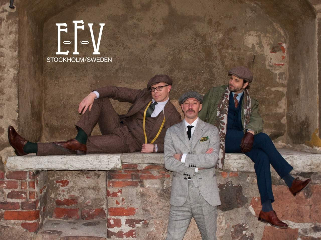Jussi Häkkinen, Lars Holmberg and Erik Mannby of E-F-V