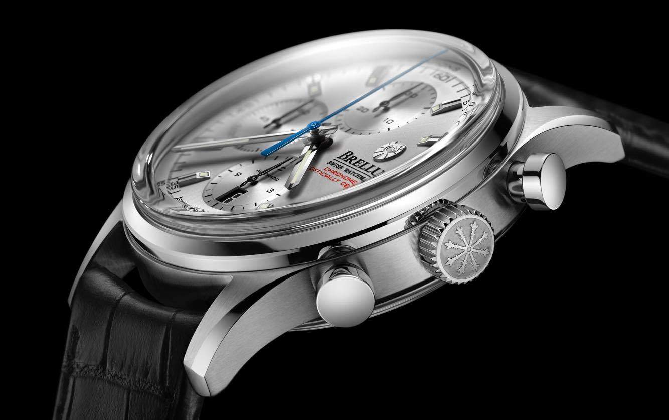 Every detail of the Brellum Duobox Chronograph's design is purposeful and exact.