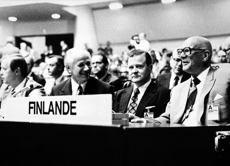 Kekkonen at the height of his political career during the CSCE Conference in Helsinki in the summer of 1975. Image: Wikimedia Commons