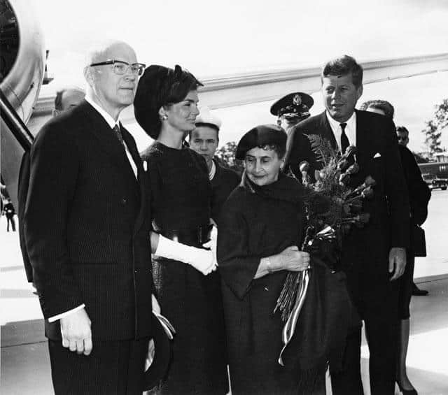 The Kekkonen's and Kennedy's in the United States in 1961. Image: Wikimedia Commons