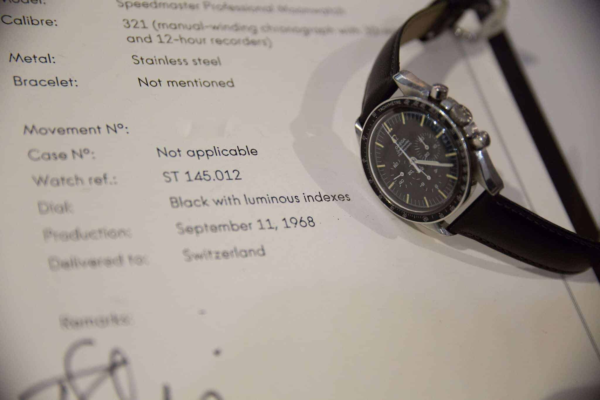 Omega Archive Extract Speedmaster