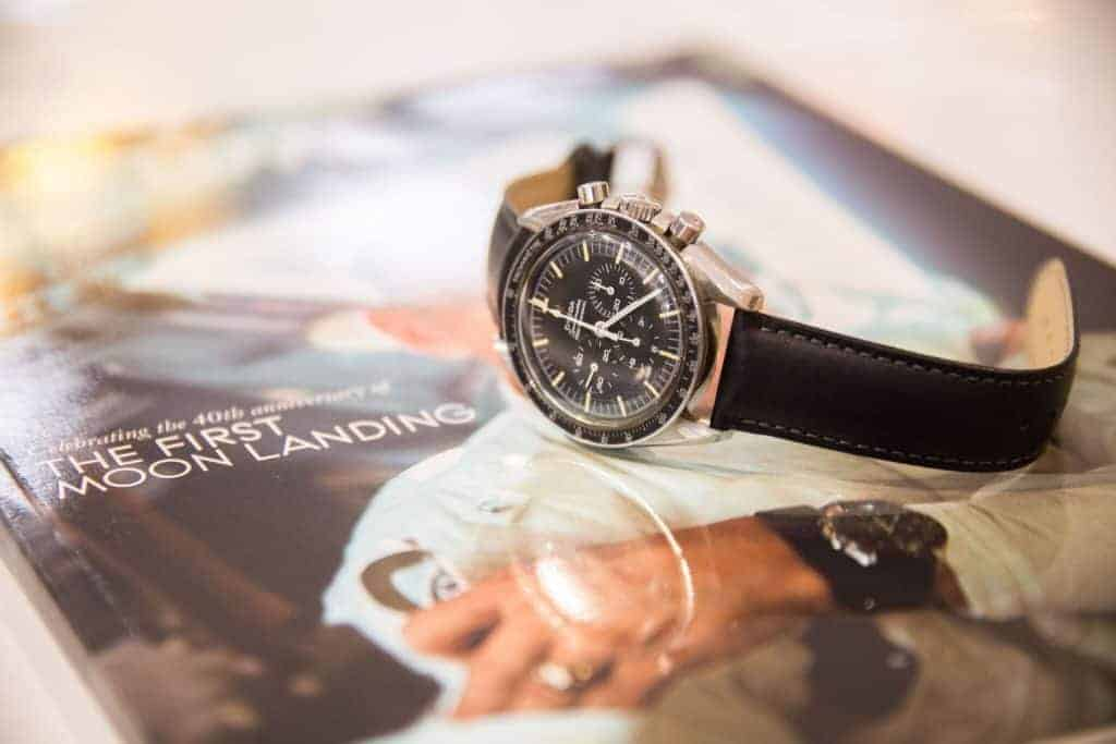 Omega Speedmaster Professional on book