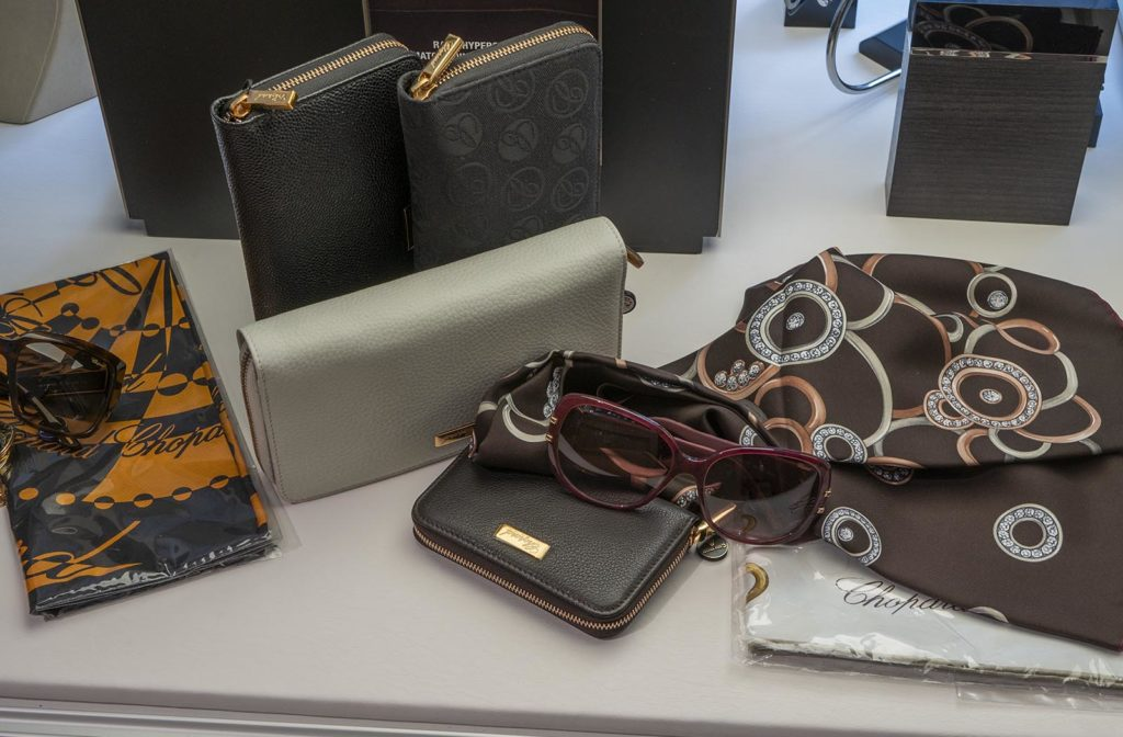 Chopard products on display at the Kluuvikatu location of Aseman Kello.